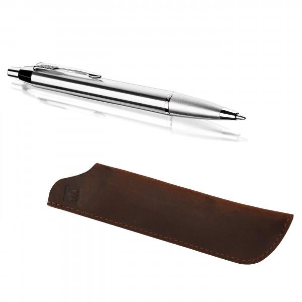 stiftpalast Dreamteam - Kugelschreiber und Echtleder Etui im Set