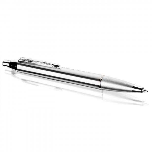 Hochwertiger Kugelschreiber silber aus Metall in edler Geschenkbox